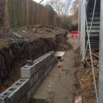 Bricklayers London | Asda Retaining Wall Restoration under construction