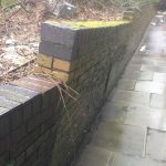 Bricklayers London | Asda Retaining Wall Restoration, Before construction